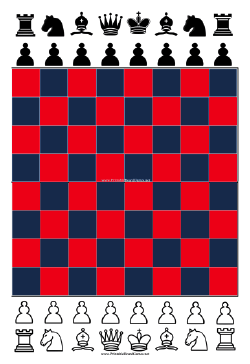 Chess Board Printable Board Game