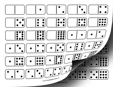 Domino Double-Twelve Set Printable Board Game