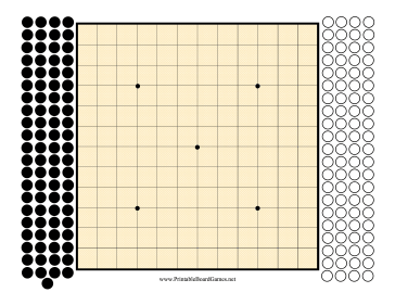 Go Board 13x13 Printable Board Game