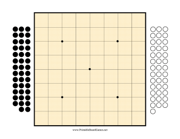 Go Board 9x9 Printable Board Game