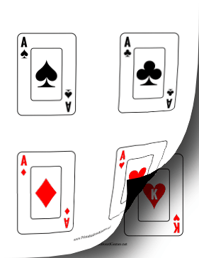 Playing Card Deck Printable Board Game